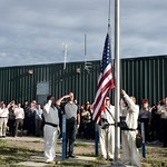 Pueblo Chemical Agent-Destruction Pilot Plant, employees celebrate the initiation of plant operations Sept. 7 with a ceremonial raising of the American flag. This symbolic event marks the final countdown to the complete elimination of the chemical weapons stockpile stored at the U.S. Army Pueblo Chemical Depot.