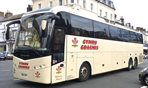 B12 CYM 'Cymru Coaches' Volvo B12BT / Jonkheere SHV on 'Dennis Basfords railsroadsrunways.blogspot.co.uk'