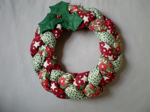 Patchwork Christmas Wreath