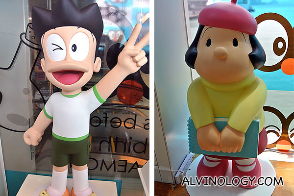 Familiar characters from Doraemon manga