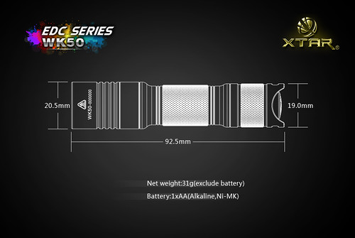 XTAR LED Flashlight, XTAR WK50, Power LED Flashlight Supplier