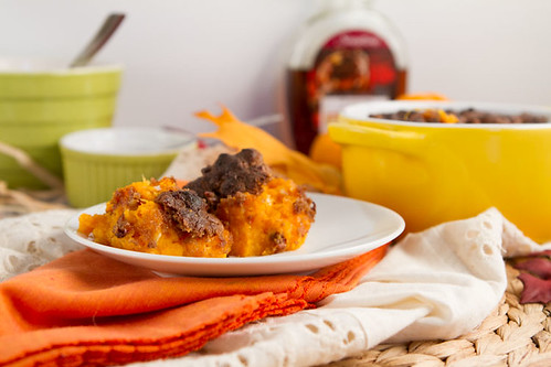 Garlic Maple Sweet Potato Casserole - Vegan + Gluten-free