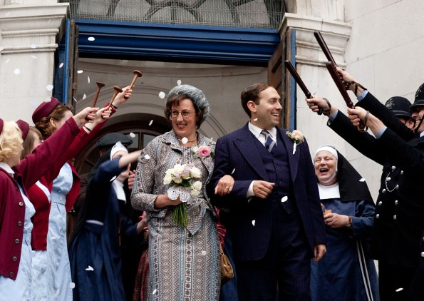 Call the Midwife's bride and groom