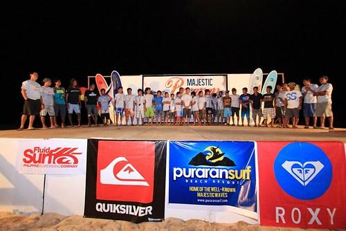 Majestic Puraran Surfing Cup 2012 winners
