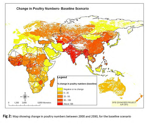 Change in poultry production