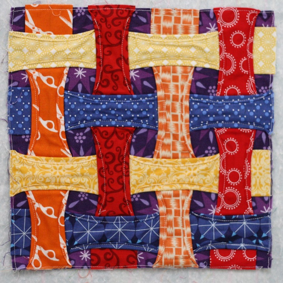 Cathedral Window sampler block 2