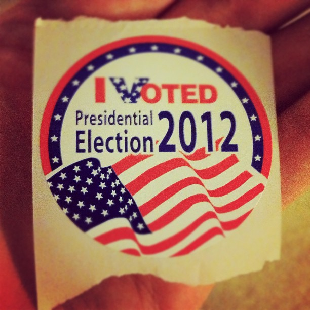 Finally. Got my coveted voting sticker. Now I need food!