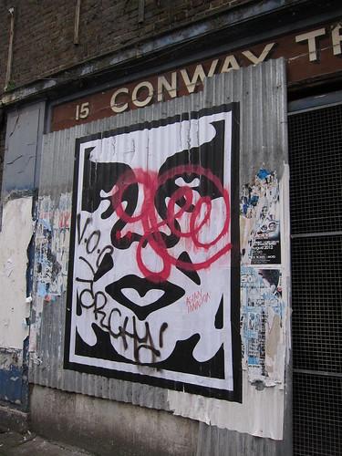 Streetart in London; Brick Lane & Shoreditch
