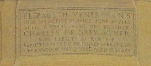 War Memorial to the Vyner Family