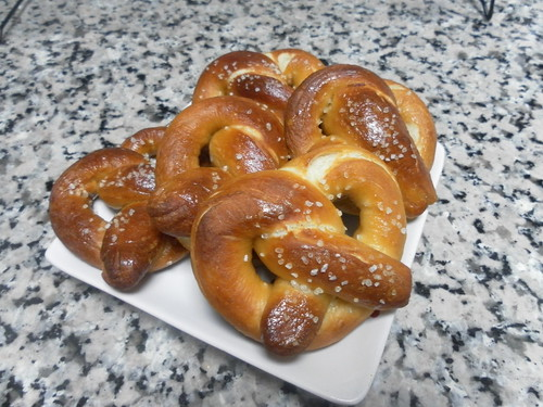 yummy soft and chewy pretzels