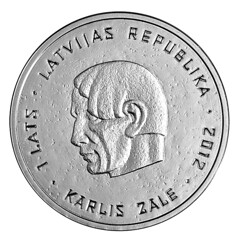 Latvia Karlis Zale reverse