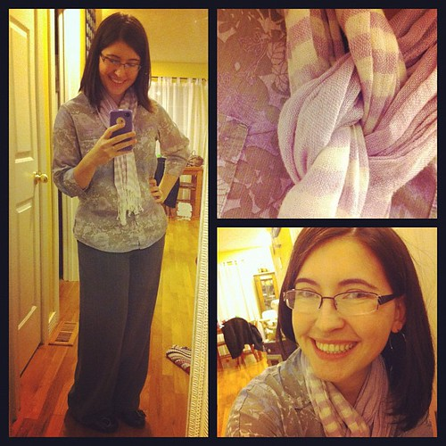A comfy blouse for today's #fashiondiaries, but I predict a sweater day tomorrow!