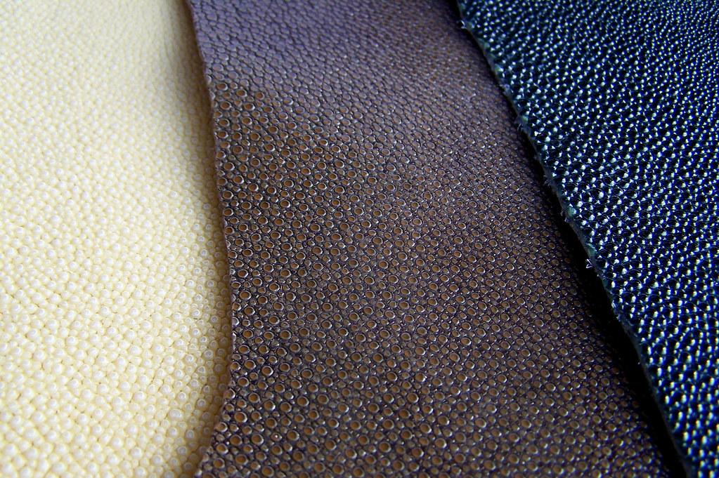 cuir de galuchat -ivoire-chataigne-noir-etuis-couteau