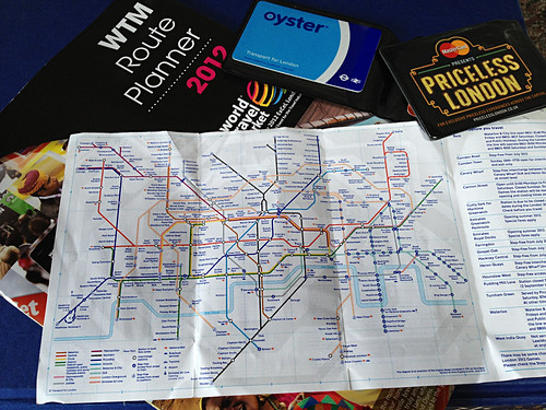 London Underground map and Oyster Cards