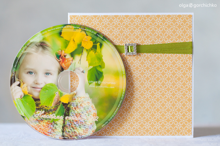 Осенний конверт для диска
