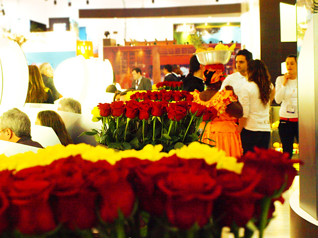 Flowers, World Travel Market, London