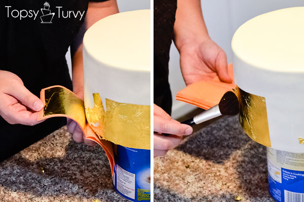 edible-gold-leaf-tutorial-cake-brushing