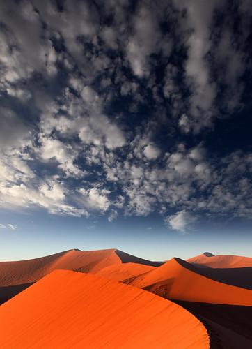 africa blue orange colors clouds landscapes sand desert dunes dune afrika dramaticsky namibia sossusvlei namib southernafrica dune45 namibdesert namibnaukluftnationalpark