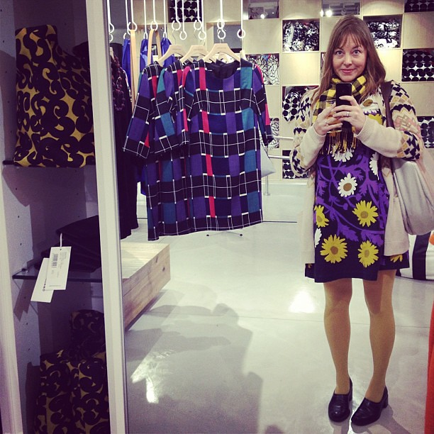 In dress heaven at the new Marimekko store!