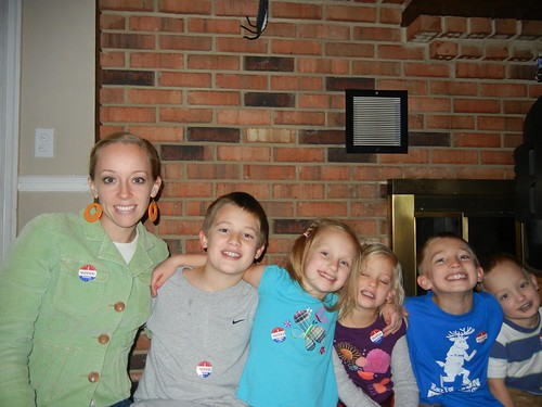 Nov 6 2012 Ruth and kids voting