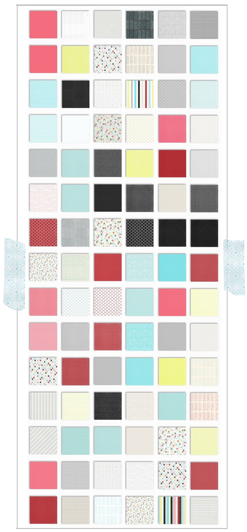 free Christmas printable patterned paper preview 500px