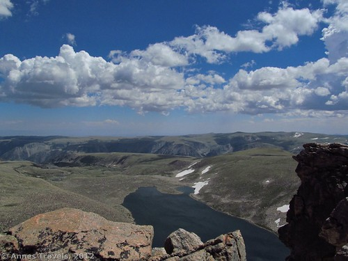 The overlook above Sliderock Lake on Mount Rearguard, Custer National Forest, Montana