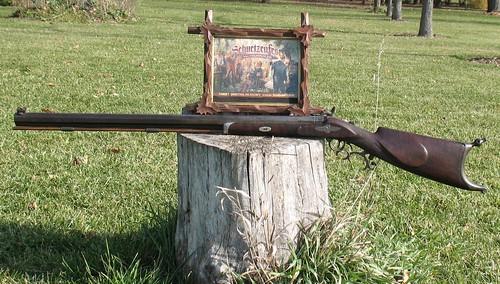 JOHN MEUNIER MILWAUKEE, WISCONSIN, Percussion Schuetzen Target Rifle