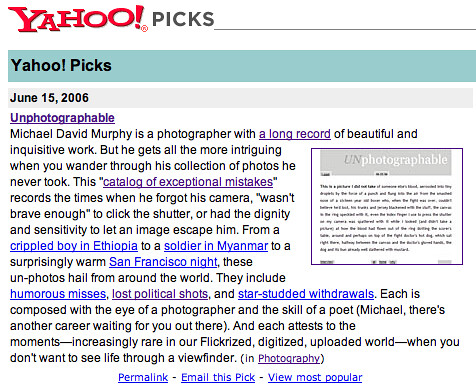 Yahoo! Picks - 2006
