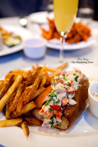 Lobster roll with my Mimosa