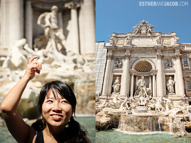 Toss a coin in Trevi Fountain When in Rome Day 1 | What to do and see in Rome in 48 hours | Travel Photography