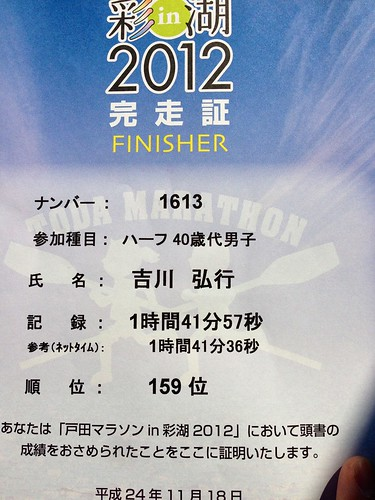 戸田マラソン in 彩湖 2012