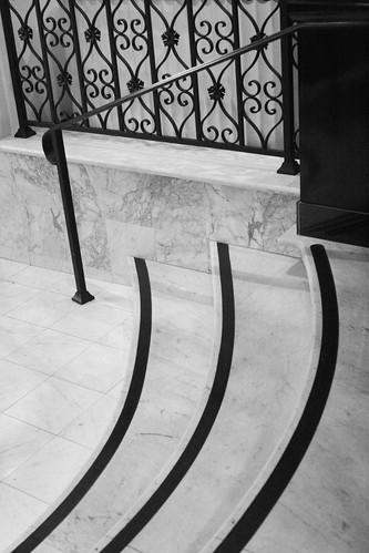 Abstract Banister & Stairs