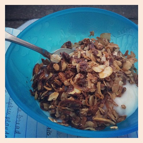 Needed to try it to make sure it was good. @edillow chocolate granola is a winner. :)