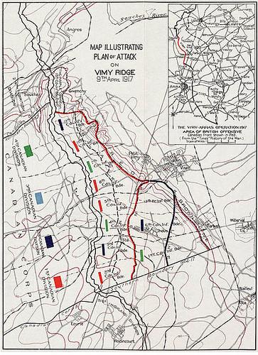 Plan of Attack on Vimy Ridge