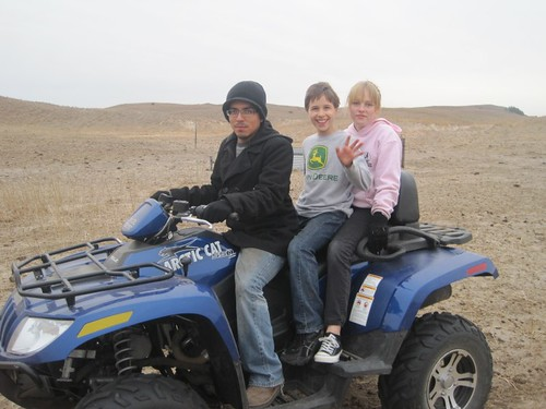 Out on the Four Wheeler