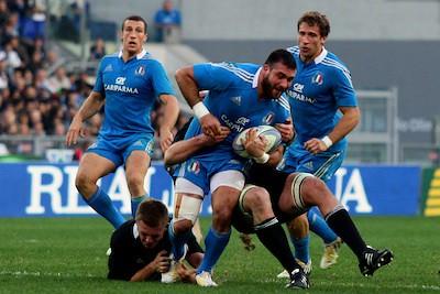 Gli Azzurri in azione