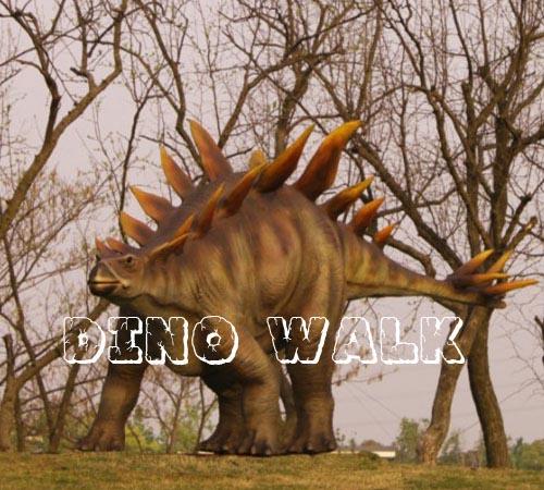 5m long Animatronic Dinosaur Stegosaurus at the Children Park