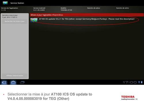 Toshiba AT100 ICS Upgrade