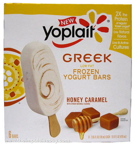 Yoplait Greek Frozen Yogurt Bars Honey Caramel Box