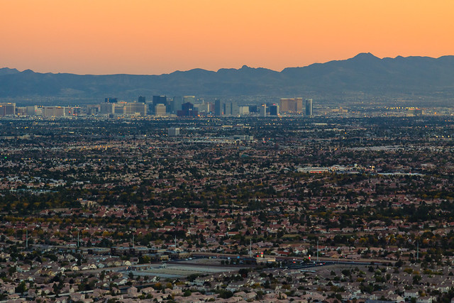 Las Vegas from Lone Mountain