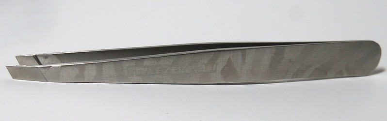 Tweezerman Satin Etched Zebra Slant Tweezers