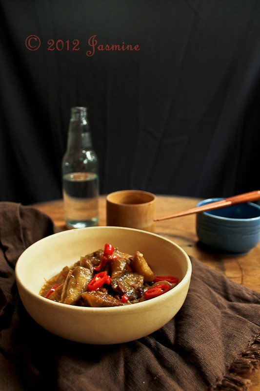 Spicy Eggplant in Yellow Bean Sauce