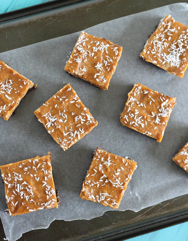 Chocolate coconut pumpkin bars