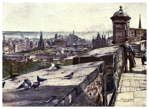003-Edimburgo desde el castillo-Edinburgh, painted by John Fulleylove- 1904