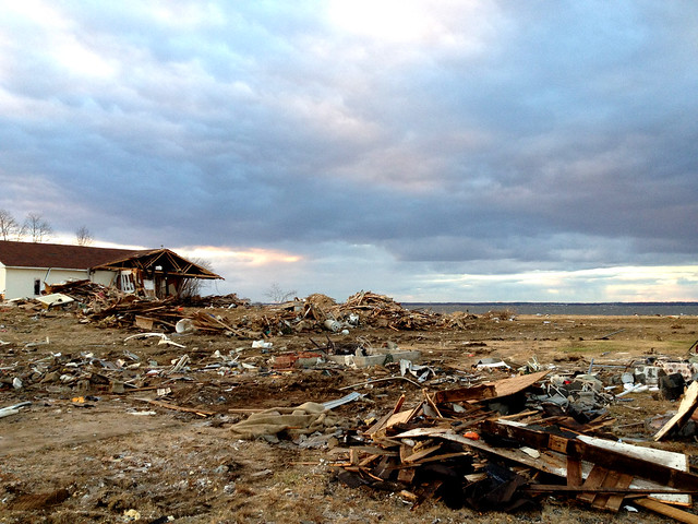 wreckage from hurricane Sandy