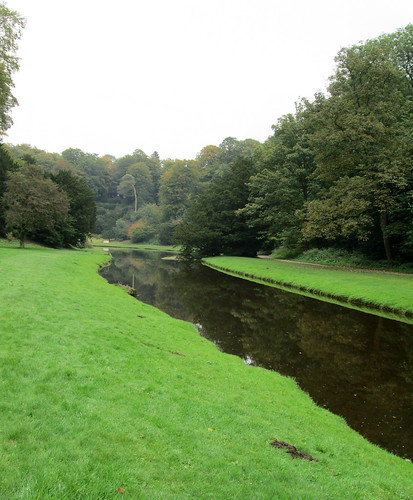 A Waterchannel leading to Studley Royal Water Garden