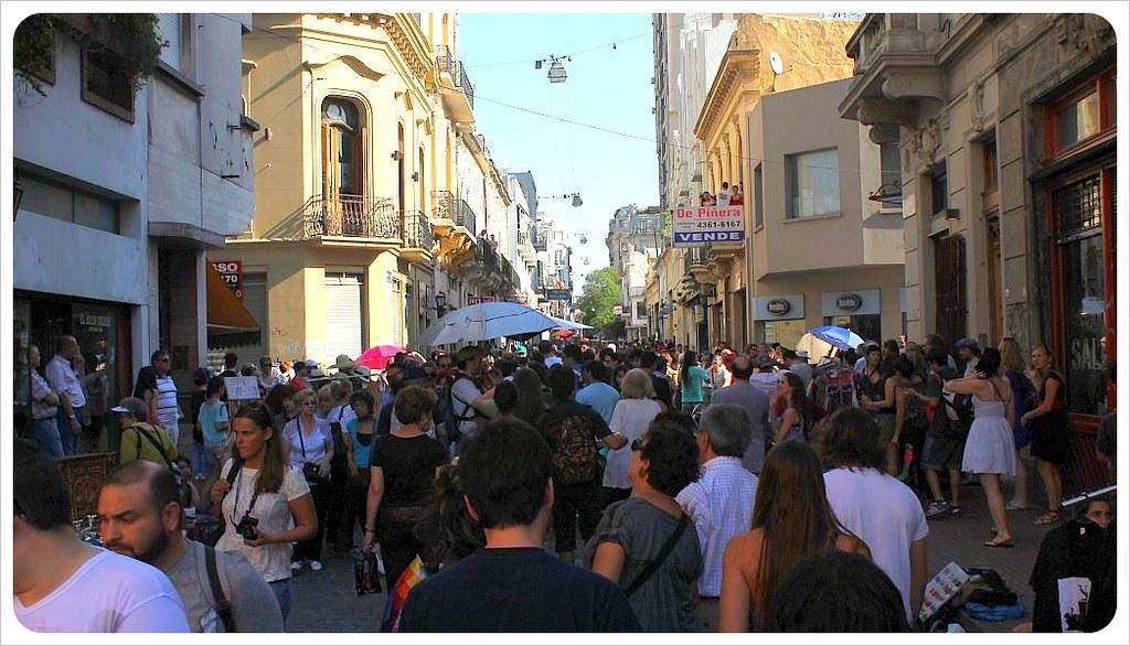 san telmo market crowds on defensa