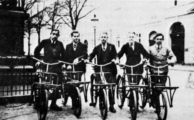Dapper Bike Messengers in Copenhagen