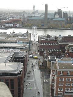 Millenium Bridge and Tate Modern from the top of St. Pauls Cathedral