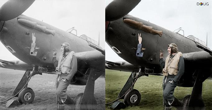 Squadron/Ldr. J A F MacLachlan - Hawker Hurricane Mk.IIC Night fighter (JX-Q) - No.1 Squadron RAF Tangmere, W.Sussex - July '41